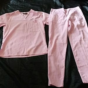 Medical Scrubs Pink Panther Size XS